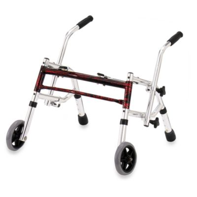 Drive Medical Wenzelite Pediatric Glider Walker in Flame Red