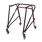 Drive Medical Wenzelite Nimbo Lightweight Adult Posterior Gait Trainer in Flame Red