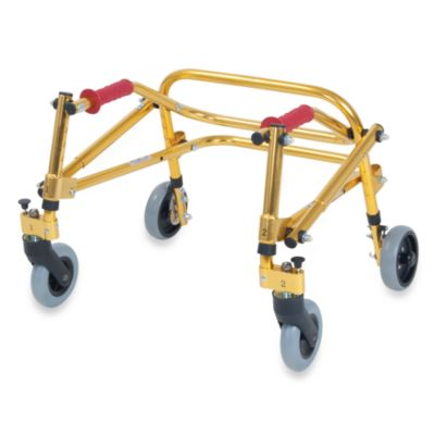 Drive Medical Wenzelite Nimbo Lightweight Tyke Posterior Gait Trainer in Goldenrod Yellow
