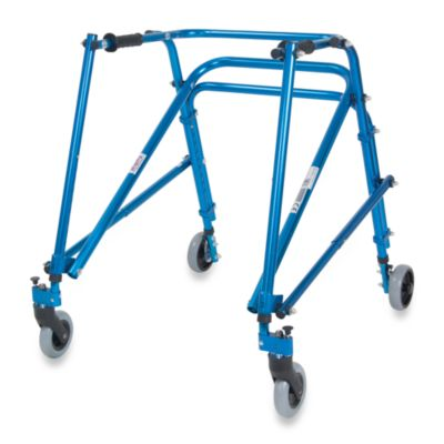 Drive Medical Wenzelite Nimbo Lightweight Young Adult Posterior Gait Trainer in Midnight Blue