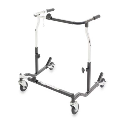 Drive Medical Wenzelite Bariatric Anterior Safety Roller in X-Large Silver Vein