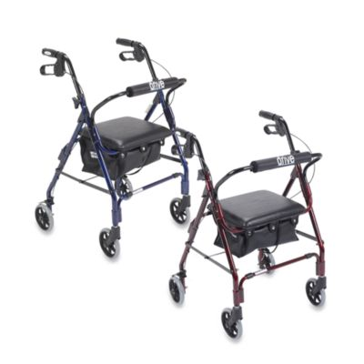 Drive Medical Mimi Lite Deluxe Aluminum Rollator - Black/Red