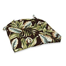 Outdoor Oversized Chair Pad in Brown Leaf