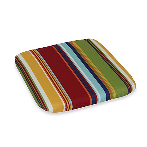 2.5-Inch Thick Chair Cushion in Bright Stripe