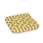 2-Inch Thick Chair Cushion in Yellow Trellis