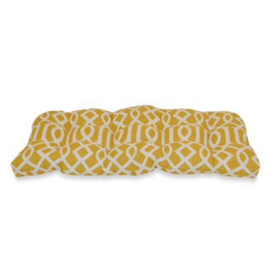 Outdoor Sette Cushion in Yellow Trellis