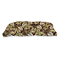 Outdoor Sette Cushion in Brown Leaf