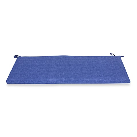 Outdoor Bench Cushion in Blue