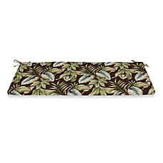 Outdoor Bench Cushion in Brown Leaf
