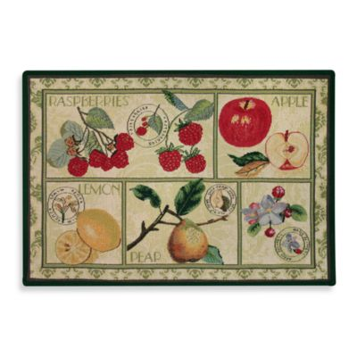 Park B. Smith® Fruit Postage Multicolored 1-Foot 7-Inch x 2-Foot 3-Inch Tapestry Rug