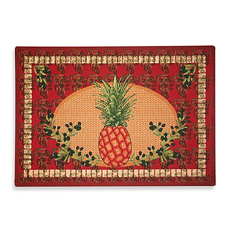 Park B. Smith Lucious Pineapple 19-Inch x 27-Inch Tapestry Rug
