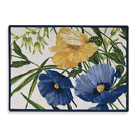 Park B. Smith® Poppies Multicolored 2-Foot 3-Inch x 3-Foot Tapestry Rug
