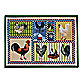 Park B. Smith® Roosters and Chickens 1-Foot 7-Inch x 2-Foot 3-Inch Tapestry Rug