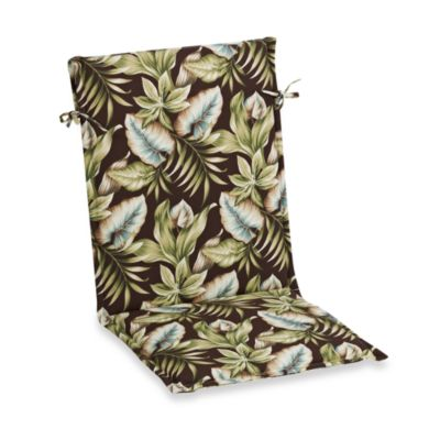 Outdoor Sling Back Chair Cushion in Brown Leaf