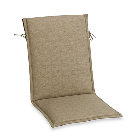 Outdoor Sling Back Chair Cushion in Chino