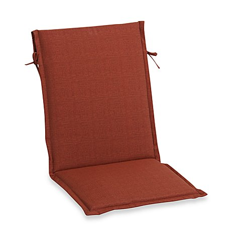 Outdoor sling back chair cushion in orange bed bath beyond - Orange kitchen chair cushions ...