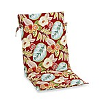 Outdoor Sling Back Chair Cushion in Floral