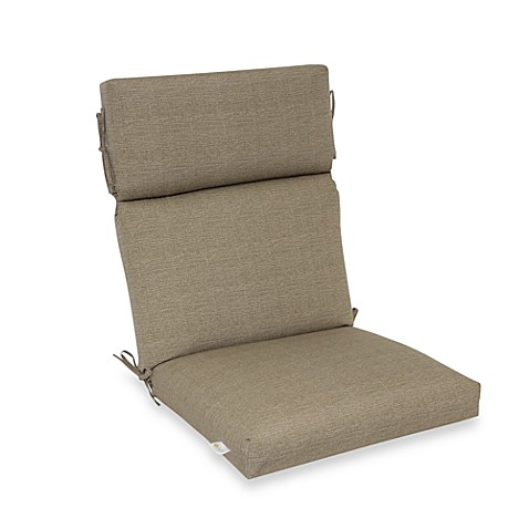 Outdoor High-Back Chair Cushion in Chino