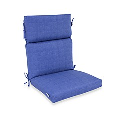 Outdoor High-Back Chair Cushion in Blue