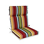 Outdoor Bridgeport Stripe High-Back Chair Cushion