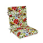 Outdoor High-Back Chair Cushion in Wildwood