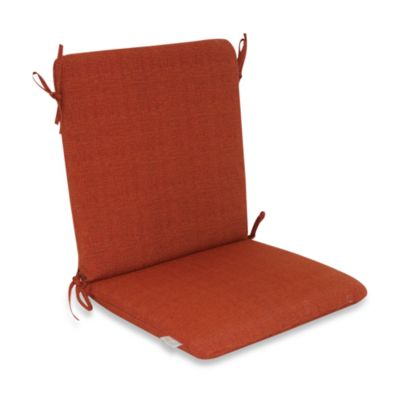 Outdoor Mid-Back Chair Cushion in Orange