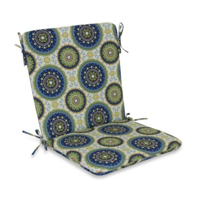 Outdoor Mid-Back Chair Cushion in Bindis