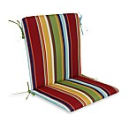 Mid-Back Cushion with Ties in Bright Stripe