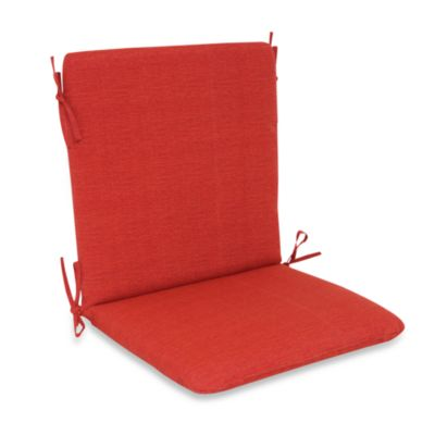Outdoor Mid-Back Chair Cushion in Cherry