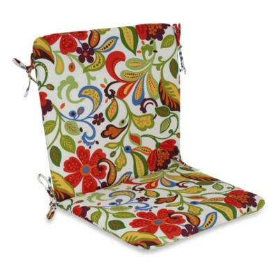 Outdoor Mid-Back Chair Cushion in Wildwood