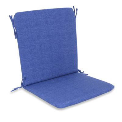 Outdoor Mid-Back Chair Cushion in Blue