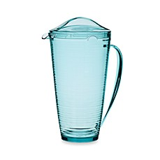 Bark 2-Quart Pitcher in Turquoise