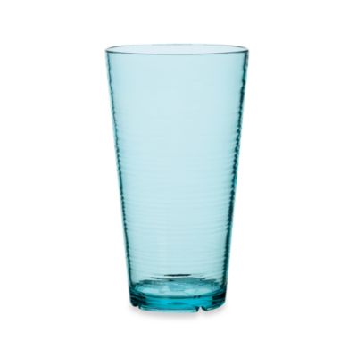 Bark High Ball 24-Ounce Glass in Turquoise