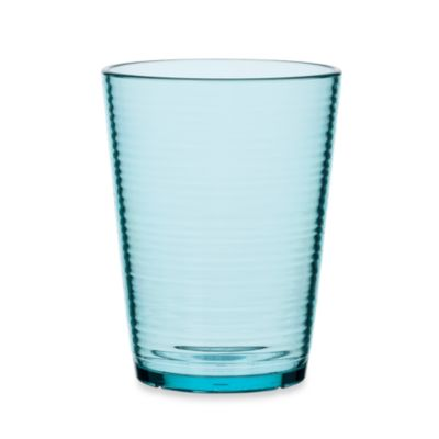 Bark Double Old-Fashioned 16-Ounce Glass in Turquoise