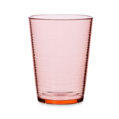 Bark Double Old-Fashioned 16-Ounce Glass in Coral