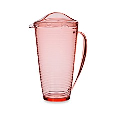 Bark 2-Quart Pitcher in Coral
