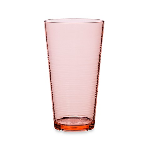 Bark High Ball 24-Ounce Glass in Coral
