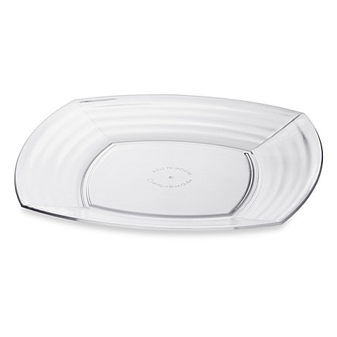Bark 8-Inch Salad Plate in Clear