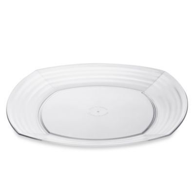 Bark 10.2-Inch Dinner Plate in Clear