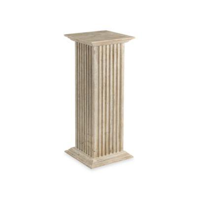 Cooper Classics 30-Inch Square Fluted Pedestal