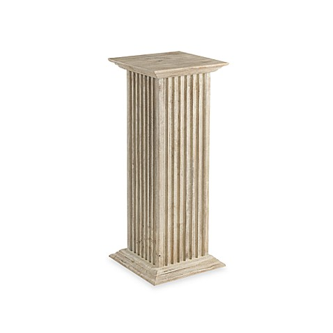 Buy cooper classics 30 inch square fluted pedestal from for Fluted pedestal base