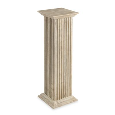 Cooper Classics 36-Inch Square Fluted Pedestal