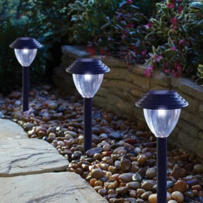 Black Solar Outdoor Lights