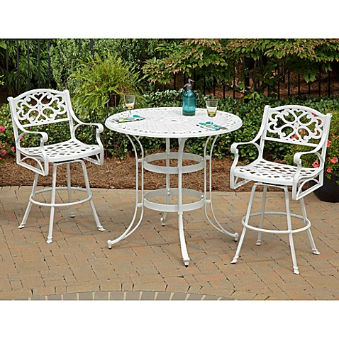 Home Styles Biscayne 3-Piece White Bistro Set