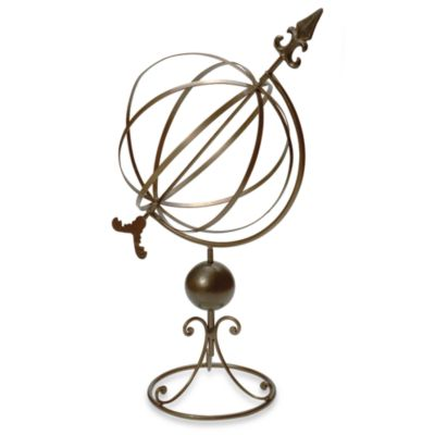 Rome Sphere Sundial in Wrought Iron