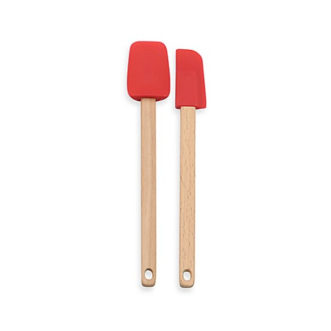 RSVP International Mini Spatulas, Set of 2 in Red