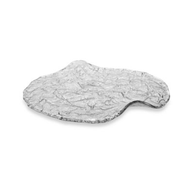 13-Inch Free Form Platter in Crystal (Set of 2)