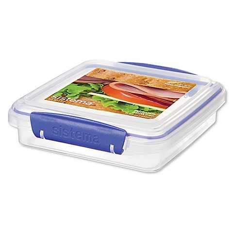 KLIP IT™ Plastic Sandwich Storage Box