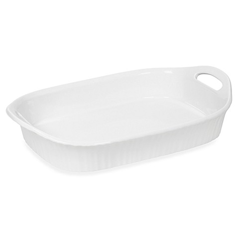 CorningWare® French White® III 3-Quart Oblong Casserole Dish with Sleeve