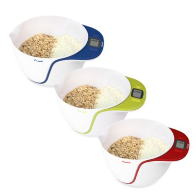 Escali® Taso Mixing Bowl with Scale in Red